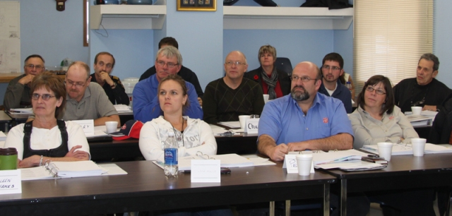 Concerned residents from Meadow Lake and the surrounding area take part in a Basic Emergency Management course Nov. 17 at the Meadow Lake fire hall.