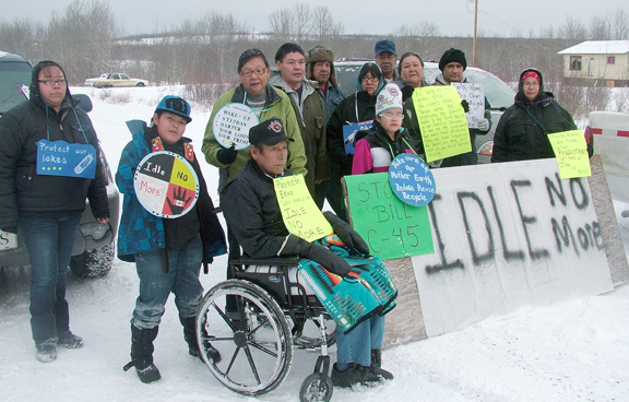 It was National Day of Action for First Nations members from Ministikwan Cree First Nation as the Idle No More movement continues. In the Northwest, blockades were staged along Highway 21 west of Loon Lake (shown here) and along highway 903.