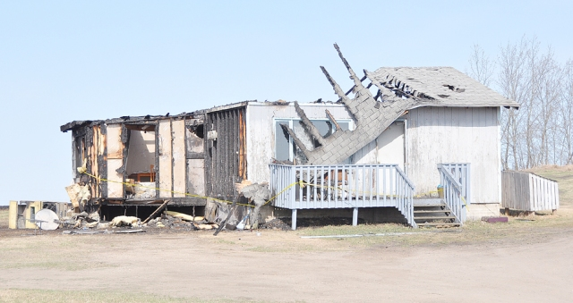 Fire destroyed this home on Flying Dust First Nation May 6.