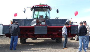 Customers had a chance to kick some tires and grab a burger at the Meadow Power and Equipment open house April 26.