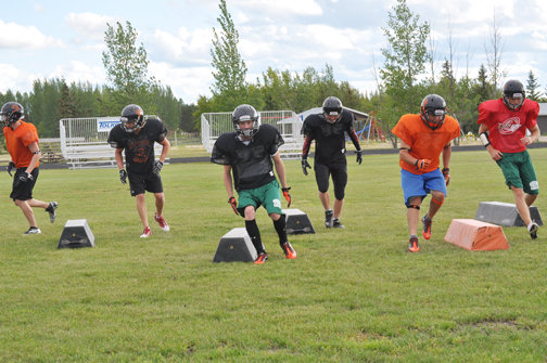 The Carpenter High School football team was busy preparing for the upcoming season last week. Coach Craig Paylor said the four-day camp was meant to condition the players and refresh them on tactics and techniques.