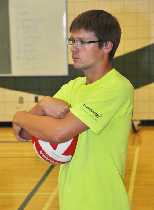 New Carpenter High School teacher Cheyne Dallyn is ready to help the CHS boys volleyball team in its quest for success this season. Dallyn, a former CHS student himself, was a member of Carpenter's provincial gold medal volleyball team in 2007-2008.