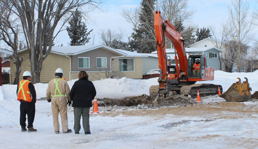 A recent water-main break had Meadow Lake and Flying Dust First Nation residents anxious as they scrambled to ensure they had adequate water reserves. Both water and sewer services were unavailable for more than 24 hours as city workers located and repaired the broken pipe.