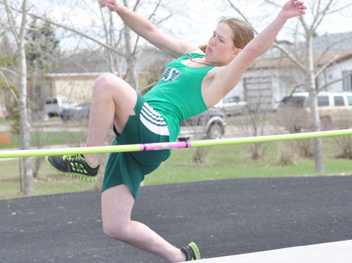 Among those to compete in last week's divisional track and field meet was Green Acre School in Rapid View student Kayleen Oftedal in the girls high jump.