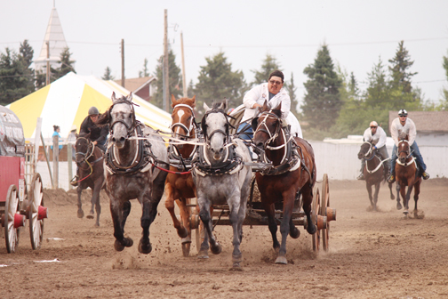 Meadow Lake's Gordon McCallum races down the track during the first, and only, heat during Sunday's ill-fated CPCA races in Meadow Lake.