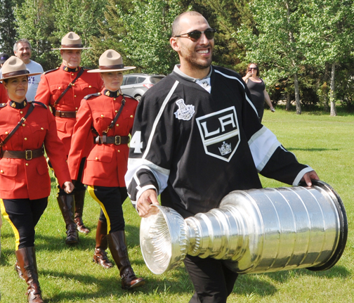 Meadow Lake and area hockey fans once again had an opportunity to see the National Hockey League's greatest prize – the Stanley Cup – up close and personal Aug. 6 when Meadow Lake's Dwight King brought the hardware home for a special celebration at PineRidge Ford Theatre in Lions Park.