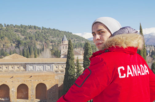 Canoe Lake Cree Nation's Craig McCallum checks out the sightseeing while in Spain recently.