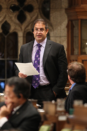 MP Rob Clarke speaking in the House of Commons in Ottawa.