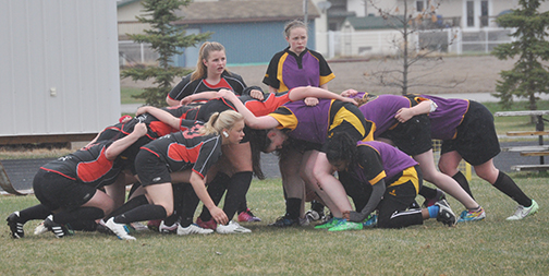The Meadow Lake SheDevils junior girls rugby team competed in their home opener at Lions Park May 6. In spite of a valiant effort, the team fell to the visiting squad from Lloydminster Comprehensive High School 25-7. The team's next home game is May 27 against Lashburn.
